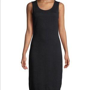 Black StJohns Santana Knit Sleeveless Fitted Dress